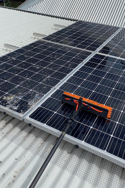 solar panel cleaning image